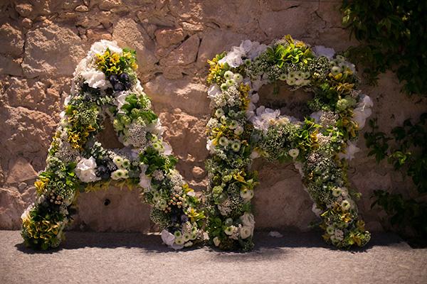 Letras flores boda - Finca El Campillo